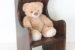 大切なお人形、ぬいぐるみのための椅子。ウィングバックドールチェア No.1922