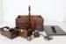 趣味を収納アンティーク仕上げの『ふた付きソーイングボックス』No.1924